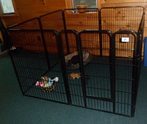 "Amazon.com : BestPet® Black 40"" Heavy Duty Pet Playpen Dog Exercise Pen Cat Fence B : Dog X Pen : Pet Supplies"