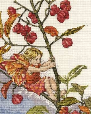 Spindle Berry Fairy Cross Stitch