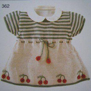 Kız Bebeklere Örgü Elbise Modelleri 198