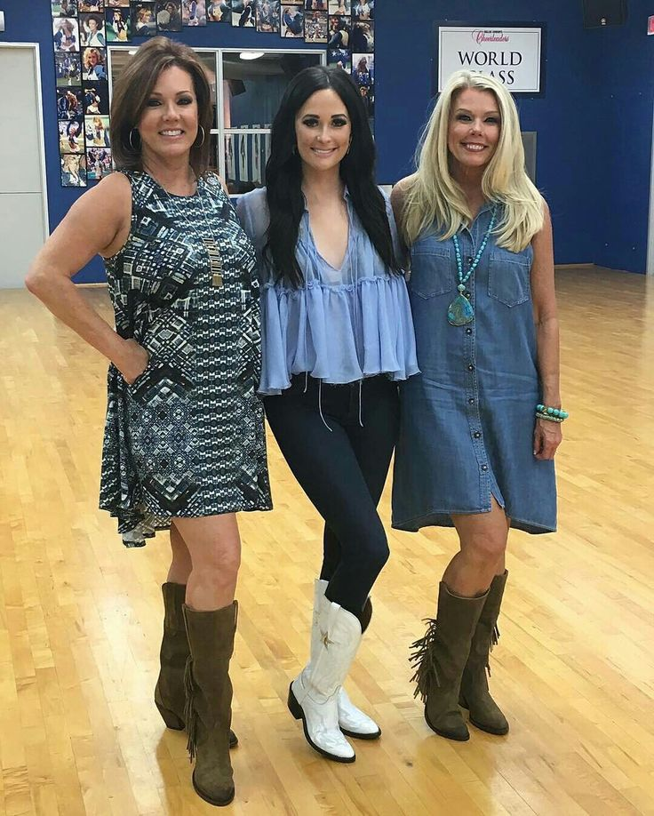 Kelli Finglass, Kacey Musgraves and Judy Trammell wearing Lucchese boots.