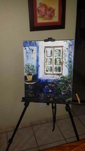 Acrylic on canvas by Nika