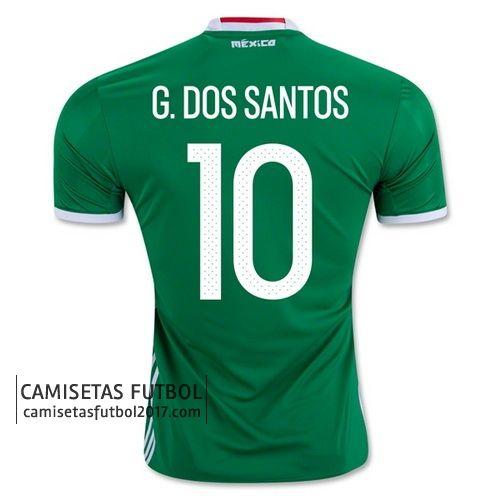 Primera camiseta G.DOS SANTOS de Mexico Copa América 2016 21,9€