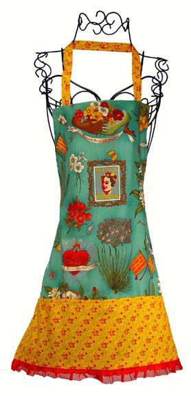 Frida Apron 100% washable cotton, adult size