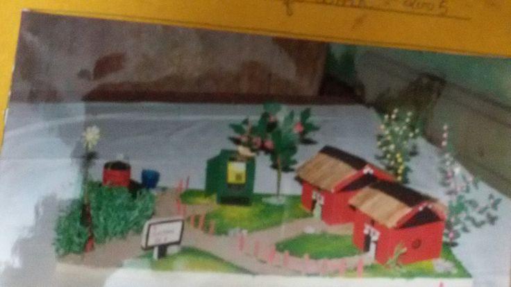 Village scene(Wastematerials)