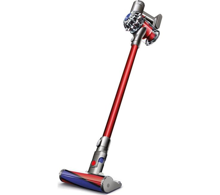 DYSON V Total Clean Cordless Vacuum Cleaner  Nickel  Red