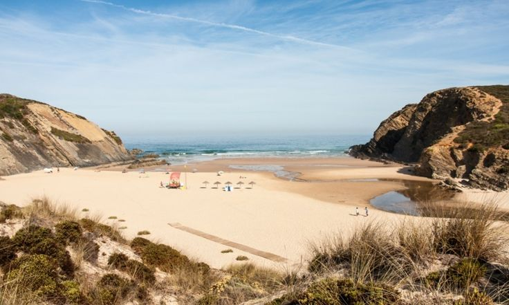 A guide to Portugal's Alentejo region, home of Europe's finest beaches - via The Guardian 12.07.2014 | Protected by the South West Alentejo and Costa Vicentina national park, the 100km of coastline from Porto Covo in the Alentejo to Burgau in the Algarve is the most stunning in Europe. And yet few people seem to know about it. Photo: Carvalhal beach, Alentejo, Portugal.