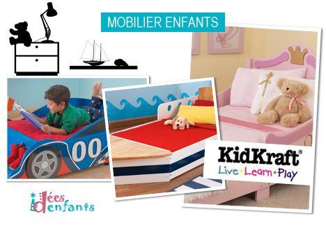 #Mobilier pour #enfant #KidKraft. Créateur, fabricant et distributeur de meubles et jouets pour enfants. Kidkraft a été fondé en 1968 et propose pour le plus grand plaisir des enfants, des lits en forme de bateau, de camion de pompier, de voiture de course, de traîneau...