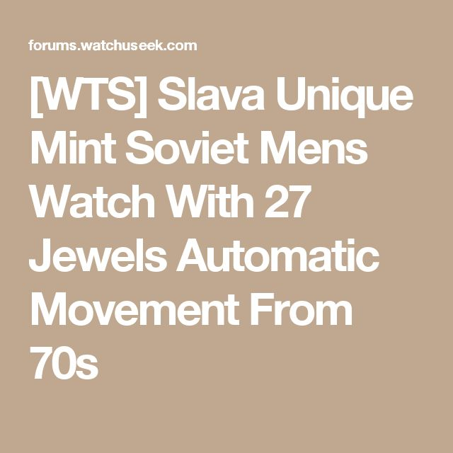 [WTS] Slava Unique Mint Soviet Mens Watch With 27 Jewels Automatic Movement From 70s