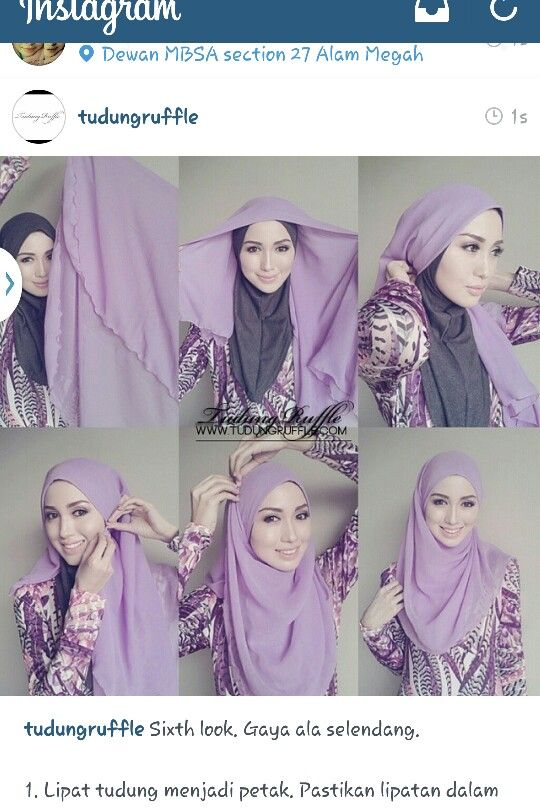 Tudung ruffle :: simple hijab do