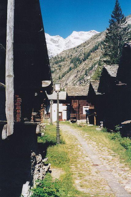 "Villaggio ""Walser"" di Macugnaga - Staffa, Piedmont, Italy"