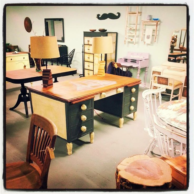 Painted Furniture, Desk, Design, Chalkpaint, Nautical, Sailboat, Nautica,  Shop