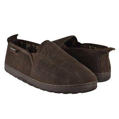 Men's Muk Luks Berber Suede Slip On Slippers - Brown 11