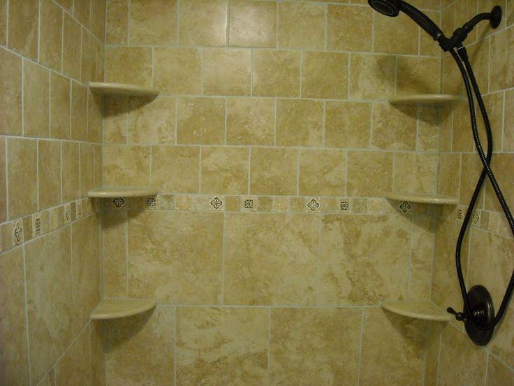 Tile Shower With Corner Shelves Popular Ideas | bathroom ...
