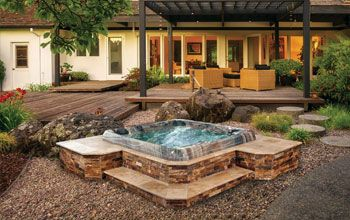 backyard spa design | Creative Spa Designs - Premier Inground Spa, Portable Hot Tubs, Spa ...