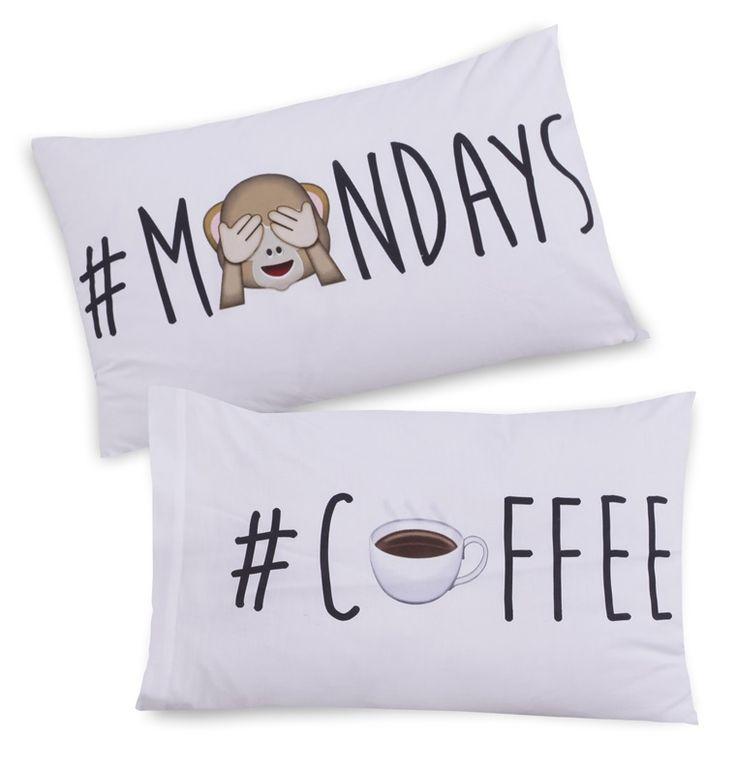 Primark - Taies d'oreiller hashtag Monday Coffee