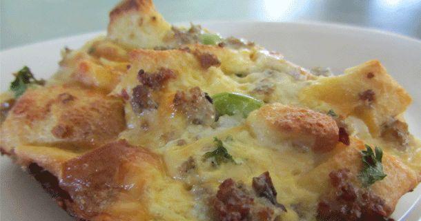 Southwestern Sausage & Egg Breakfast Casserole | Recipe