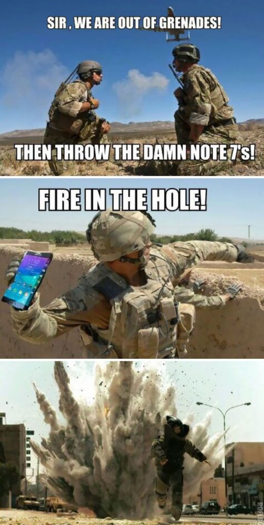 Maybe Samsung can recoup their losses on the Galaxy Note 7 by selling the defective batteries back to the U.S. Department of Defense.
