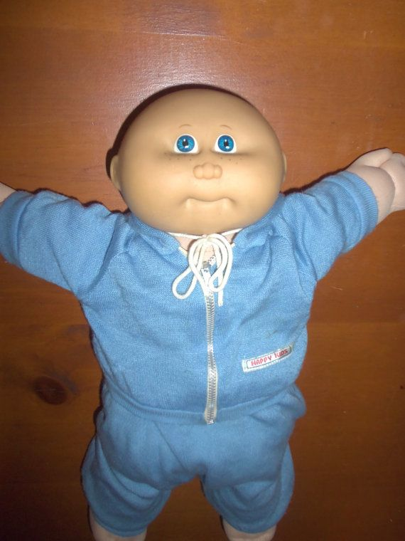 80 s cabbage Patch Kid garçon chauve Doll par LizardQueenVintage, $12.00