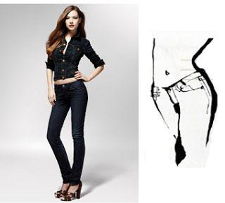 Los Levi's Bold Curve están pensados para las mujeres con curvas definidas, es decir, caderas pronunciadas y cintura muy marcada. Lo que significa que sus vaqueros habituales se ajustan en la cadera pero suelen quedar demasiado holgados en la cintura.