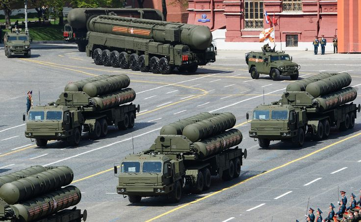 "Russian anti-aircraft missile system is big and medium-range S-400 (""Triumph""). It is intended for the destruction of all modern and advanced air and space attack. Adopted in 2007."