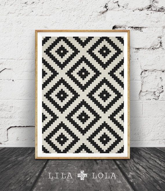 Aztekische Muster, schwarz und weiß zu drucken, Südwand der westlichen Kunst, druckbare Kunst, mexikanische, Stammes-, aztekische Poster schwarz weiß geometrische