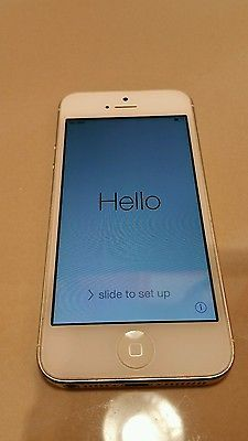 Apple Iphone 5 at&t 16 GB White Used.