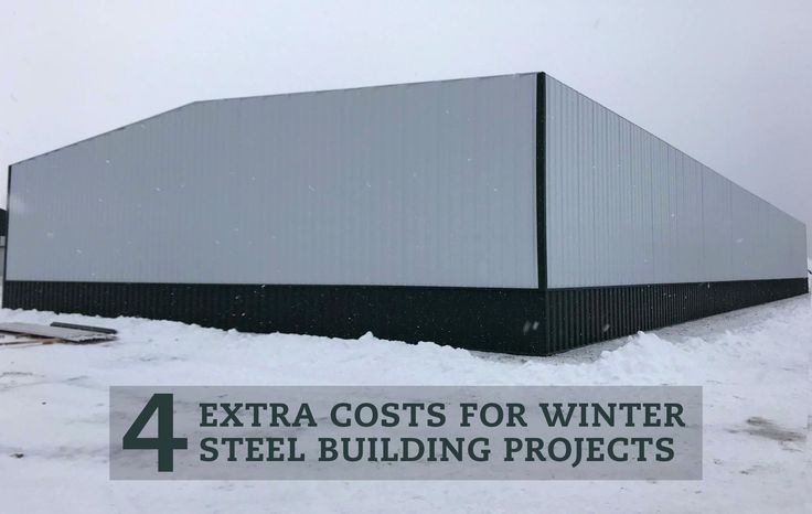 Erecting steel buildings in the Winter can add to your overall project cost. Learn how frozen ground, concrete/masonry work, equipment, and weather during the coldest months of the year can impact your overall project cost in the list below, created by E.J. Eyles, Senior Project Manager at Steelsmith.