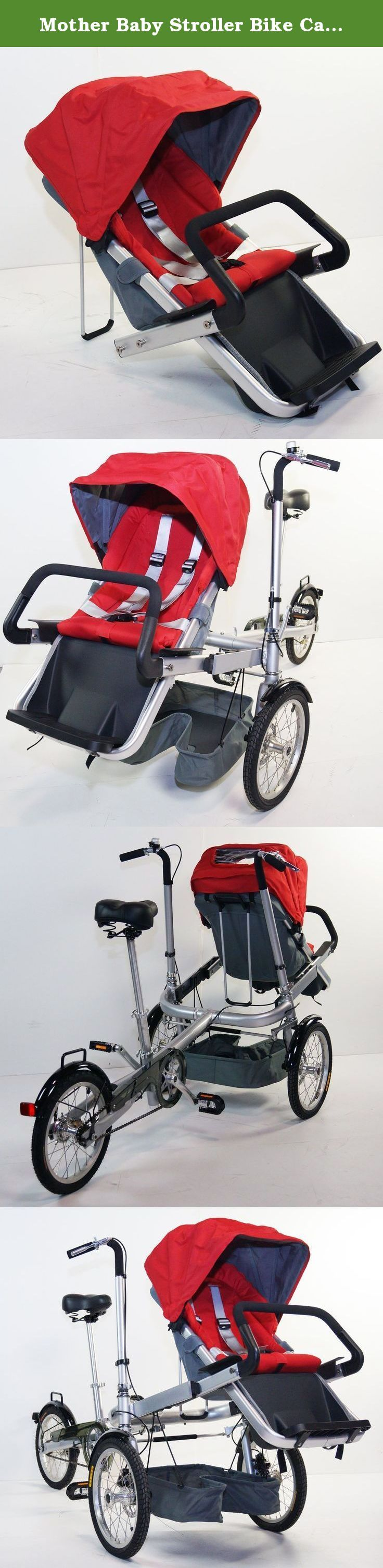 Mother Baby Stroller Bike Carrier 3 Wheels Folding Bicycle