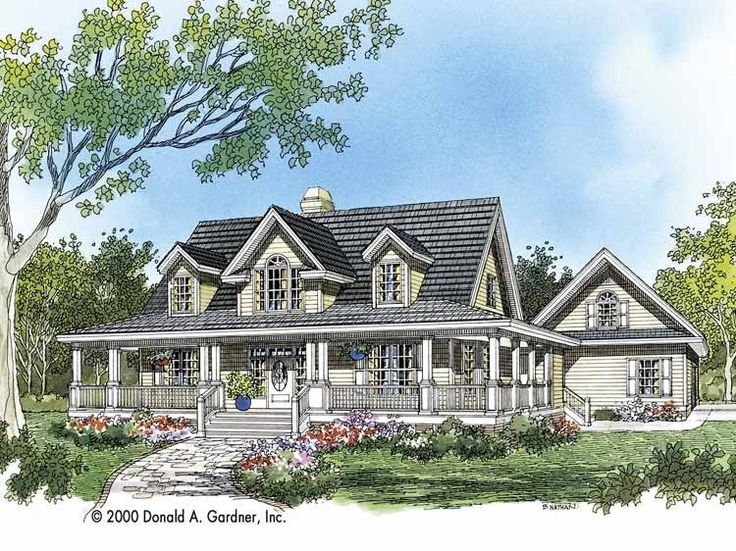 Eplans Farmhouse House Plan - Azalea Crossing - 2482 Square Feet and 4 Bedrooms from Eplans - House Plan Code HWEPL06895