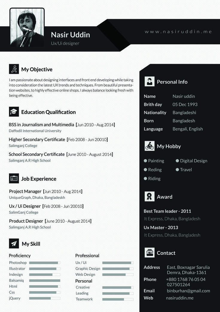 13 best cv examples images on pinterest
