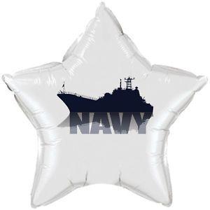 US Navy Party Supplies Classic White Star Balloon w SHIP | eBay
