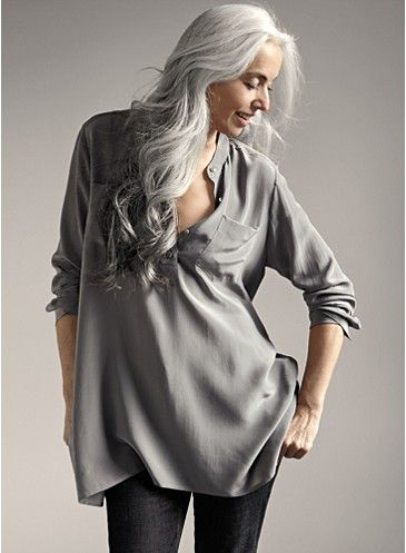 When I have gray hair one day, I hope it can look like this