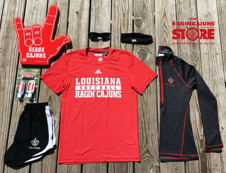 Ragin' Cajuns Softball  #flatlay We love our university!