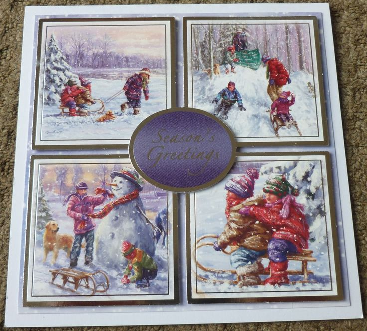 Handmade Card Hunkydory Christmas - using up last years stash