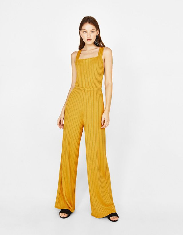 15b83b7176 Ribbed jumpsuit - Bershka  fashion  product  newin  trend  trendy  jumpsuit   dress  summe  spring  cool  girl