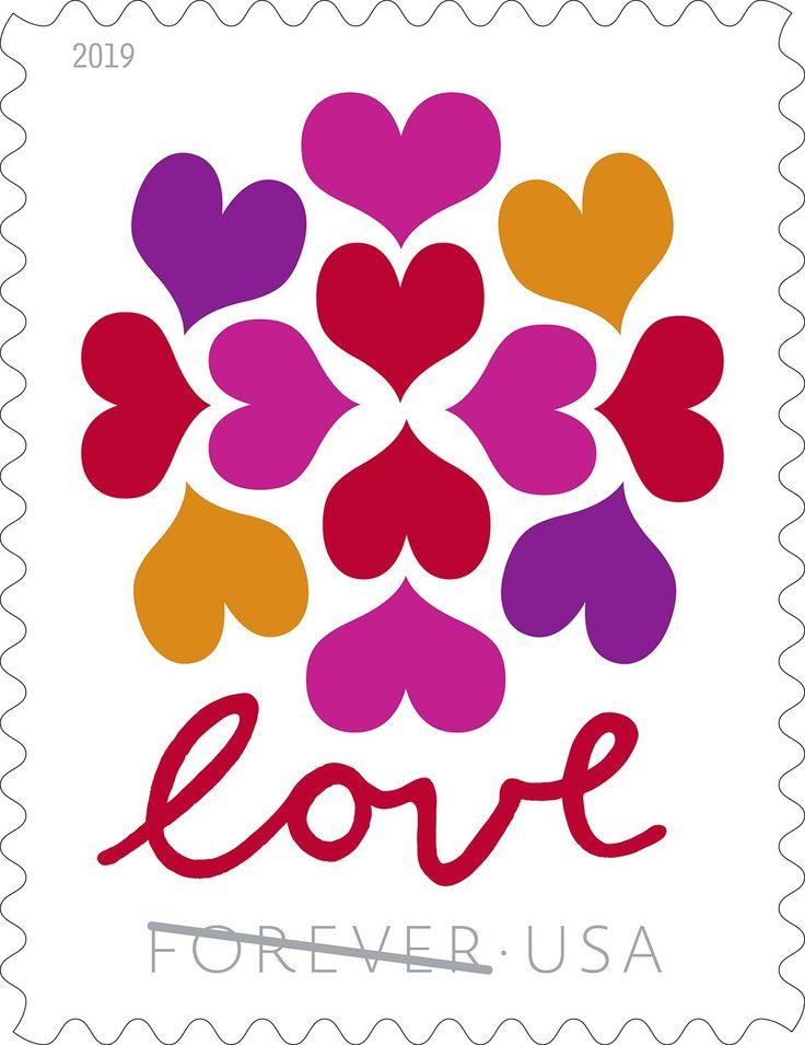 Hearts Blossom 2019 Forever USPS Stamp Wedding stamp
