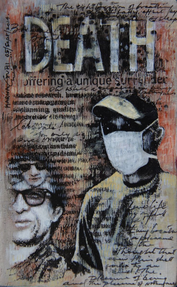 Death - Mixed Media on Paper