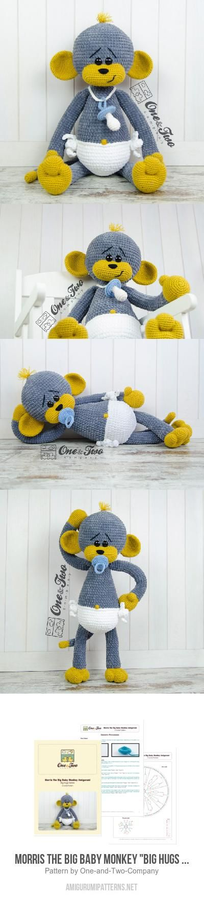 "Morris the Big Baby Monkey ""Big Hugs Series"" amigurumi pattern"