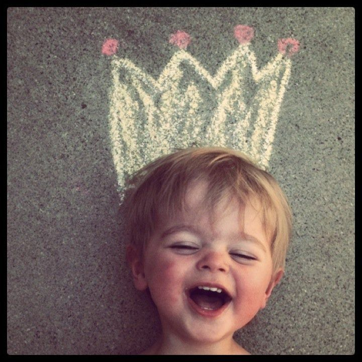 adorable child sidewalkchalk crown kid photograph