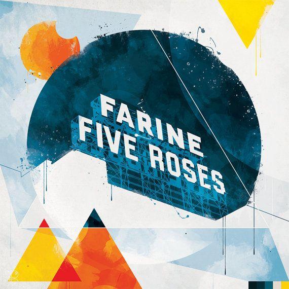 Farine Five Roses sur Etsy, $60.00 CAD