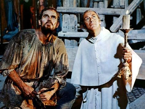 """The Agony and the Ecstasy"" is a 1965 American film directed by Carol Reed, starring Charlton Heston as Michelangelo and Rex Harrison as Pope Julius II. The film was partly based on Irving Stone's biographical novel of the same name. This film deals with the conflicts of Michelangelo and Pope Julius II during the painting of the Sistine Chapel's ceiling."
