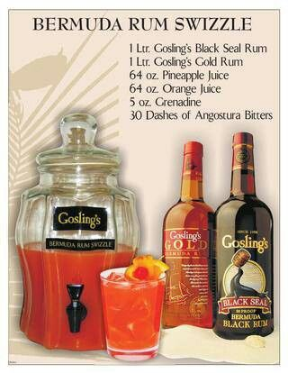 Gosling's Bermuda Rum Swizzle. Fave, must be made with Goslings.