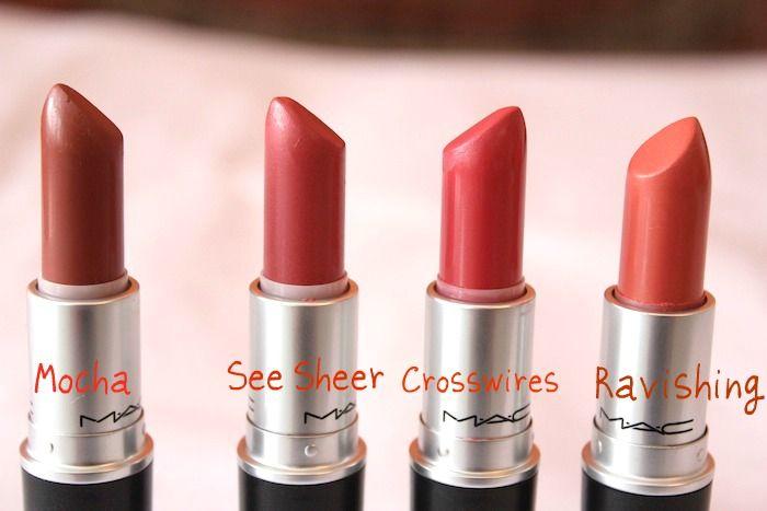 5 MAC Peach Lipstick Photos , Swatches