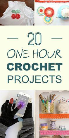 20 projetos de crochê de uma hora que você vai querer experimentar imediatamente