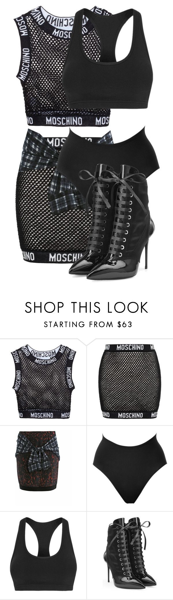 """Untitled #3049"" by xirix on Polyvore featuring Moschino, 3.1 Phillip Lim, SPANX, Lorna Jane and Giuseppe Zanotti."