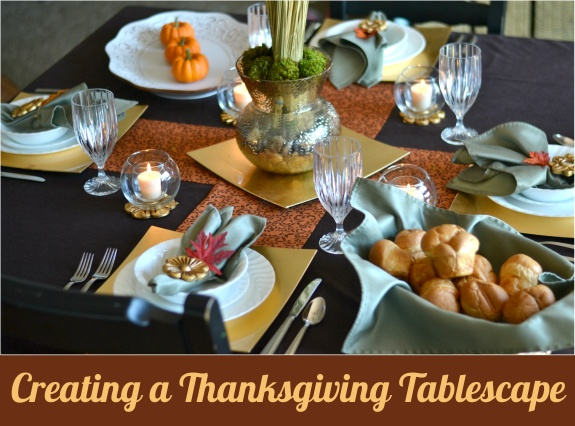 Thanksgiving tablescape using items from Wayfair