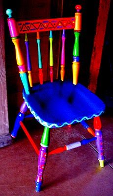 Painted  chair - literally brilliant....