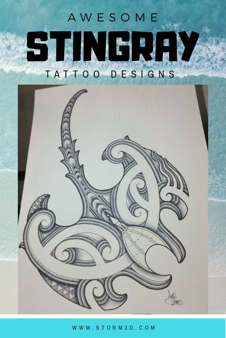 dd22cad7d Check out these awesome #mantaray designs! Hand drawn #tribal #flash  #images in #maoristyle. Find more #ideas on www.storm3d.com