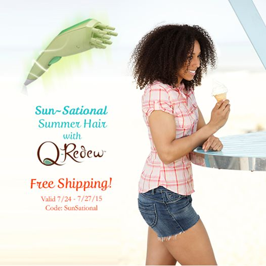 Get FREE SHIPPING on your Q-Redew when you use code: SunSational at checkout at www.QRedew.com/?utm_content=buffer92f91&utm_medium=social&utm_source=pinterest.com&utm_campaign=buffer 7/24-7/27/15 #‎QRedew‬ ‪#‎SummerHair‬ ‪#‎FreeShipping‬  ~It's all about hair, education and wellness... ‪#‎thetextureexpert‬ ‪#‎textureonly‬ ‪#‎naturalhair‬ ‪#‎naturalhaircare‬ ‪#‎loccare‬ ‪#‎locstyles‬ ‪#‎beeducated‬ ‪#‎bewell‬ ‪#‎100NoRiskGuarantee‬ http://www.thetextureexpert.com