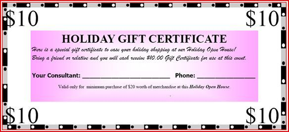 Mary Kay Certificate Printables Mary Kay Gift Certificate